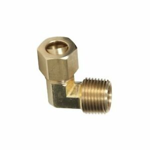 "Plumbing 90 Degree Elbow Connector 1/2"" NPT Size Male X 3/8"" Compression Tube"
