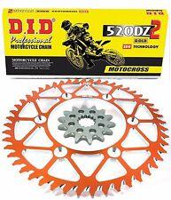 KTM Chain and Orange Sprocket SXF 125 250 300 350 450 530 48T / 14T Gold D.I.D.