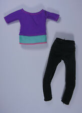 Mattel Barbie Purple Top Yoga Doll Clothes Made To Move Fashion