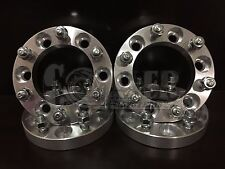 """4 X WHEEL SPACERS 6x5.5 To 6x5.5 (6X139.7) 108MM CB 12X1.5 STUDS 1"""" INCH Thick"""