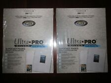 200 (2 Boxes of 100) Ultra Pro 9 Pocket Plastic Sheets