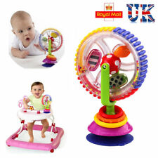 Baby Kid Child Rainbow Observe Ferris Wheel Rattle Suction High Chair Toy