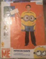 RUBIE'S DESPICABLE ME Costume Fancy Dress MINIONS DAVE Official HALLOWEEN 5 6 7