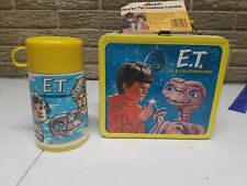 VINTAGE 1982 E.T. THE EXTRA - TERRESTRIAL LUNCHBOX & THERMOS - UNUSED W/ TAG
