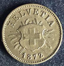 5 Rappen 1872 B Schweiz KM#5 vorzüglich !