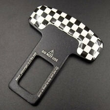 Checkered Car Safety Seat Belt Buckle Clasp Clip Stopper Alarm For Mini Cooper