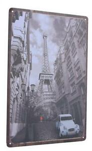 Retro Paris Metal Poster - Style My Pad