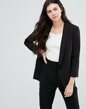 Minimum Womens Black Stenja Smart Lapel Blazer UK Size 14 Brand New RRP £90