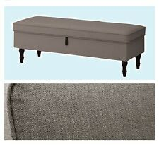 IKEA Stocksund Sofa Bench Nolhaga Gray Beige COVER ONLY Brown Footstool Ottoman