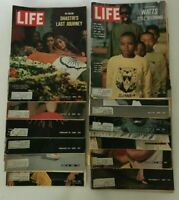 Life Mags 1966, Lot of 12 Assorted Jan/Feb/Apr/Jun/Jul/Aug/Nov/Dec, Good-Acpt