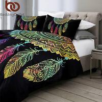 Floral Skull Black Comforter Duvet Cover Quilt Cover Set Twin Size Bedding Set