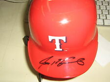 Autographed Ivan Pudge Rodriguez Texas Rangers Mini Helmet RARE