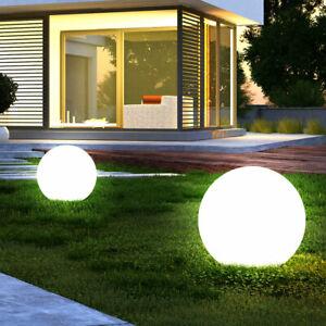 2er Set LED Außen Solar Kugel Leuchte Lampe Beleuchtung Hof Weg Garten Teich