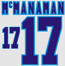 Euro 1996 McManaman 17 England Home Football Name set for National shirt