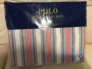 Polo Ralph Lauren Twin Sheet Set  NWT! 100% Cotton Red White Blue Stripe
