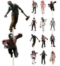 Halloween Freaky Zombies Cupcake & Party Food Toppers Decorations Picks 14 Pack