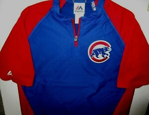 CHICAGO CUBS YOUTH XL CAGE JACKET REMOVABLE SLEEVES MAJESTIC NEW