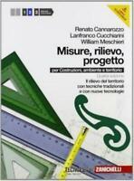 Misure, Rilievo, progetto, vol.2 Cannarozzo, ZANICHELLI editore cod9788808223586