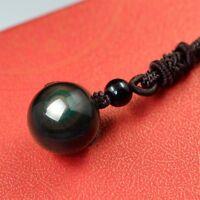 Lucky Natural Crystal For Lovers Beads Pendant Rainbow Ball Obsidian Eye