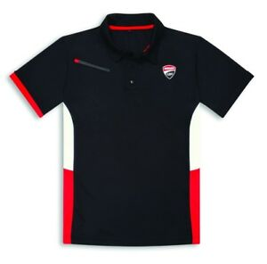 Ducati Corse Power Polo short Sleeve Tee Black Red White New