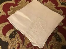 "Vintage Monogram ""A� White Embroidery Hankie"