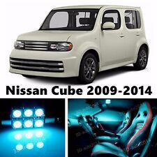9pcs LED ICE Blue Light Interior Package Kit for Nissan Cube 2009-2014