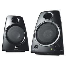 Logitech Z130 2 Piece Multimedia Stereo PC, Laptop Computer Speakers - Black