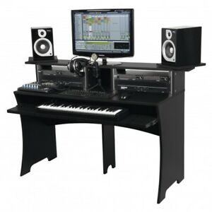 Glorious Workbench Black - Work Station Desk Bench for Music Production Studio