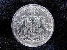 Deutsches Reich 3 Mark 1909 J Freie und Hansestadt Hamburg Silber Münze