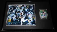 Neil Walker Signed Framed 11x17 Photo Display Pirates Yankees