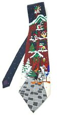 *VINTAGE* 1996 Looney Tunes Mania Christmas Holiday Silk Neck Tie Bugs Daffy 57""