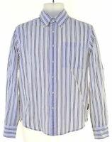 SERGIO TACCHINI Mens Shirt Small White Striped Cotton  JT18