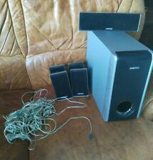 HOME CINÉMA + LECTEUR DVD SAMSUNG ÉTAT avec tous les fils 6 (hauts parleurs)