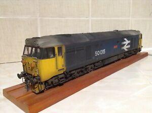 Heljan O gauge Class 50 50015 Valiant in weathered BR Blue livery