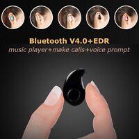 Mini Wireless Bluetooth 4.0 Stereo In-Ear Headset Earphone Headphone For Phone @
