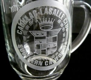 Vintage Cadillac La Salle Club South California Glass Commemorative Stein France