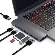 Pourvie 7-in-1 USB C Thunderbolt Hub Adapter Grey