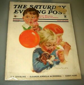 THE SATURDAY EVENING POST MAGAZINE MAY 18, 1935 - ILLUSTRATED COVER