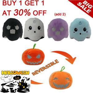 2020Double-Sided Halloween Soft Plush Toy Reversible Flip Pumpkin/Ghost Stuffed