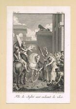 ANTICA STAMPA  INCISIONE SU RAME  MINIATURA XVIII (1700)