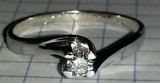 Anello Solitario Diamante Naturale Oro bianco 18 Kt 0,23 ct con incisione
