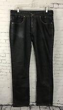 Zara Man Jeans Straight Leg Size 32 34 Mens Dark Wash Button Fly Denim