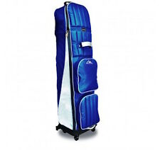 NEW Longridge Foldable 4 Wheel Golf Bag Travel Cover Navy/Sliver