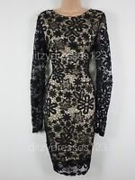 BNWT Amy Childs Black Nila Lace Hourglass Ruched Pencil Dress Size 10  RRP £82