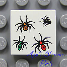 NEW Lego Harry Potter 2x2 Gray Decorated FLAT TILE - Black Spider/Animal Pattern