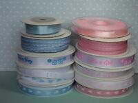 Baby Ribbon - Grosgrain & Satin, Choice of Colour & Style