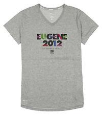 Nike Women's Eugene 2012 Olympic Trials V-neck Shirt Sz L Large Heather Gray