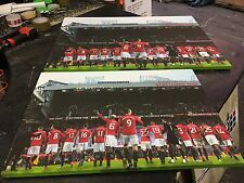 """Manchester United #MUFC 2016 / 2017 Canvas Print A1 (33""""x24"""")"""