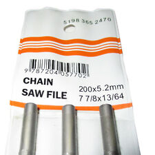 """3PK OF CHAINSAW ROUND FILES 3/8 (13/64"""") 5.2MM SUITS STIHL HUSKY JONSERED & MORE"""