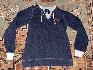 Chicago Bears NFL Antigua Women Small Blue Gray Pullover Sweater Sweatshirt